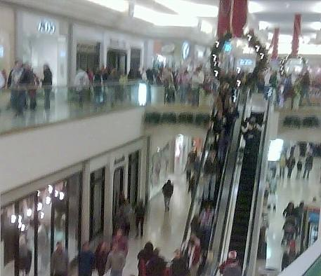 Shoppers at Woodland Hills