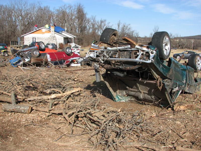 Tornado Damage near Westville