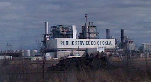 PSO power plant at Oologah.