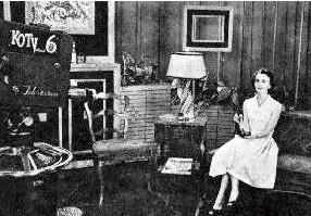 An undated photo of Betty Boyd on the set of her Channel 6 program