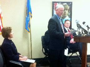 School Superintendents speak to reporters at a news conference