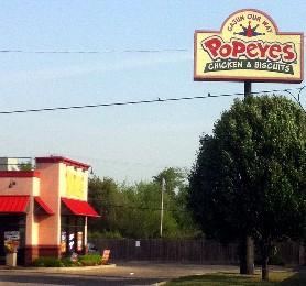 Popeye's restaurant where shooting took place.