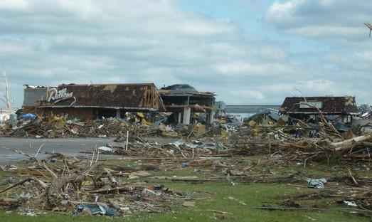The Dillion's Supermarket in Joplin was destroyed by the tornado.