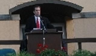 Congressman Dan Boren at Community forum.