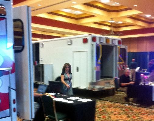 Ambulances of display at EMT Trade show