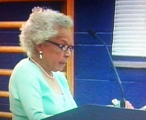 Jane Malone speaks to board