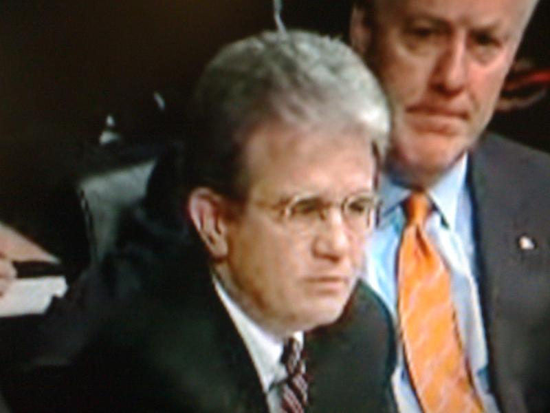 Oklahoma Senator Coburn on the senate floor.