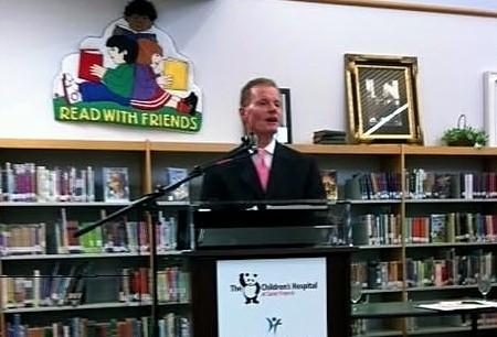 A partnership to improve Tulsa students health is announced at Mark Twain Elementary School