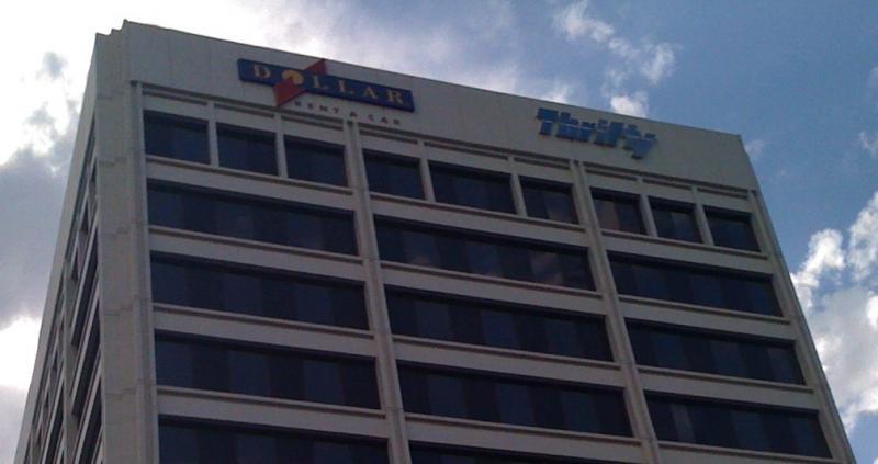Dollar-Thrifty headquarters on 31st Street in Tulsa.