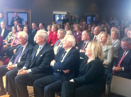 A large crowd was on hand for the dedication.