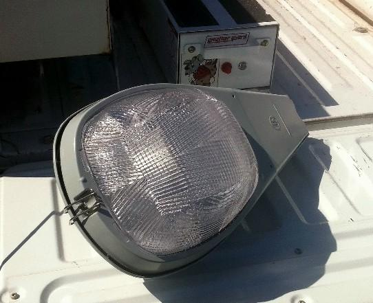 One of the new energy saving lights to be installed