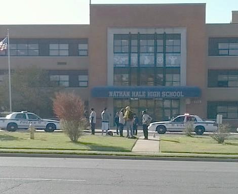 Tulsa Police on the scene at Hale High School