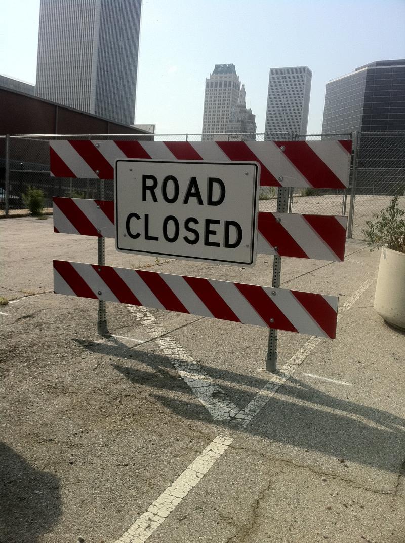 Closed Boulder Bridge