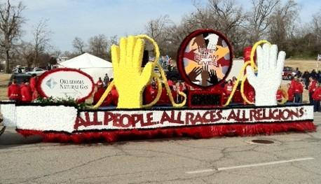 One of the floats in this year's parade