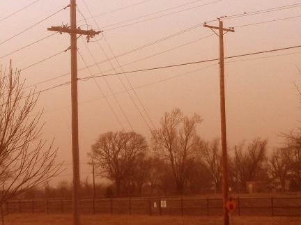 Dust and dusk in Bixby