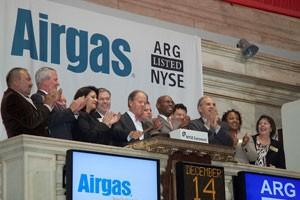 File photo of Airgas executives
