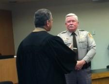 Tim Albin is sworn in as the new Undersheriff