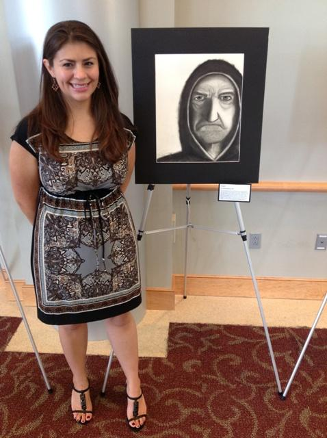 Dr. Erin Jorgensen with her portrayal of a patient