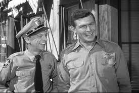 Don Knotts and Andy Griffith in a scene from the Andy Griffith Show