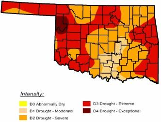 Drought is getting worse over Eastern Oklahoma, including portions of Tulsa County