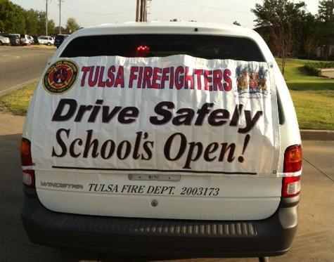 Firefighters at Jenks Back to School