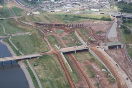 I-40 construction work in Oklahoma City