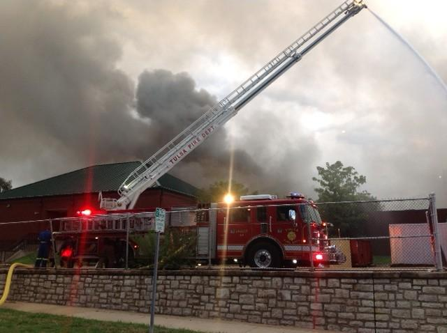 Tulsa Fire Fighters battled the TSAS fire