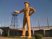 The Golden Driller at Expo Square