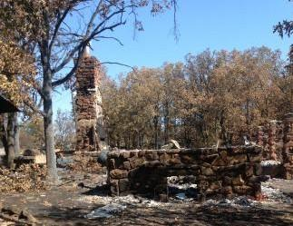 One of the homes destroyed by the Creek County fire