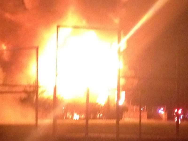 The explosions rocked the neighborhood.