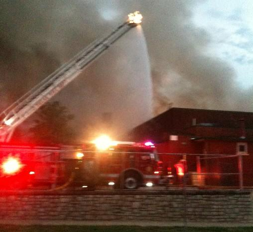 Fire fighters scrambled to get control of the blaze
