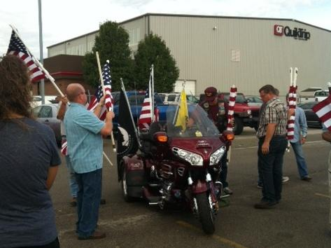 Patriot Riders at Tulsa International Airport