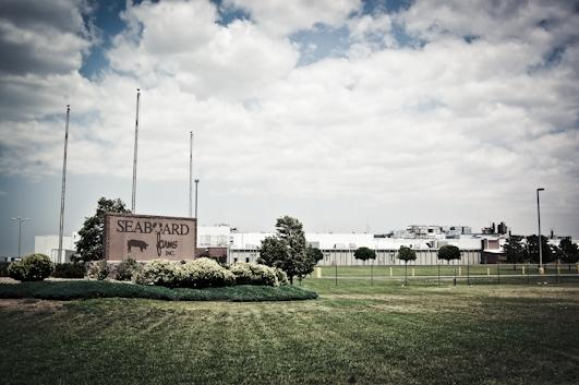 The Seaboard Foods pork processing plant at Guymon.