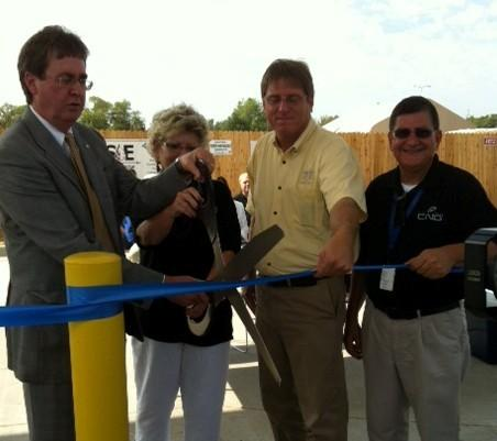 The ribbon is cut on a new Tulsa CNG fueling station for use by the public