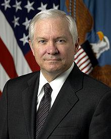 Former U.S. Defense Secretary Robert Gates speaks in Tulsa.