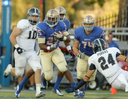 Ja'Terian Douglas had 17 carries for 169 yards and a touchdown, helping the Golden Hurricane record 436 yards of offense.