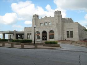 The Jazz Hall of Fame is in the old Union Depot in downtown Tulsa