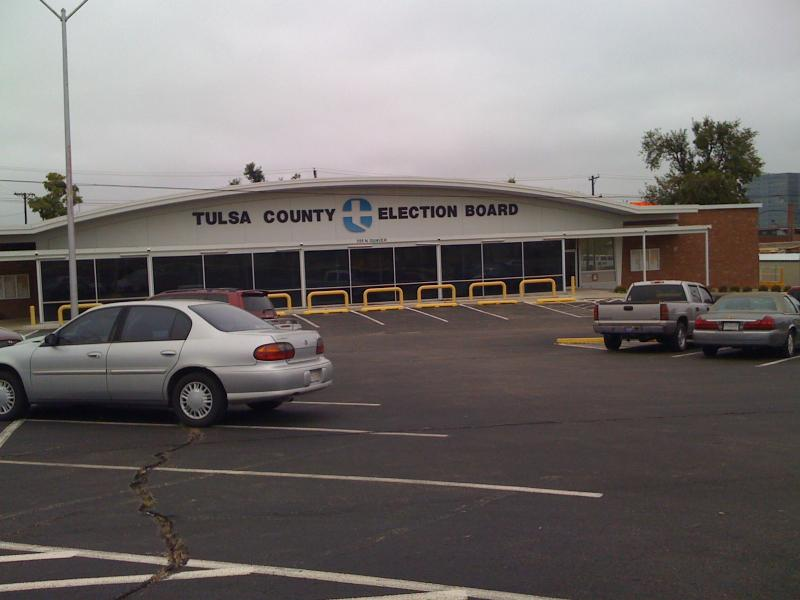 The Tulsa County Election Board on North Denver Avenue