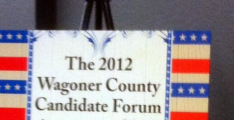 The sign greeting attendees at Coweta event