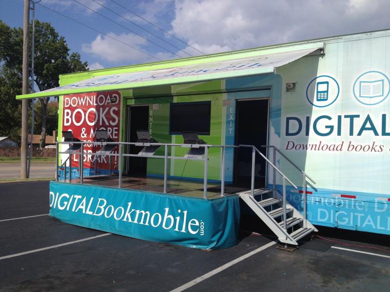 The Digital Bookmobile visited Martin Regional Library Wednesday.