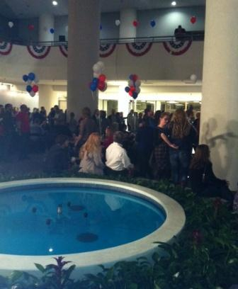 Crowd at the Bridenstine watch party