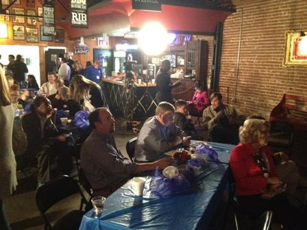 Olson's watch party at Cain's Ballroom second stage