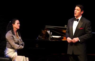 Nathan Gunn, accompanied by his wife, Julie, in a Nov. 1 recital at Armstrong Auditorium in Edmond, Okla.