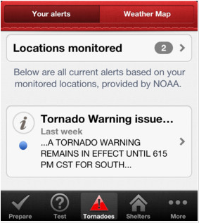 Red Cross Tornado Warning App