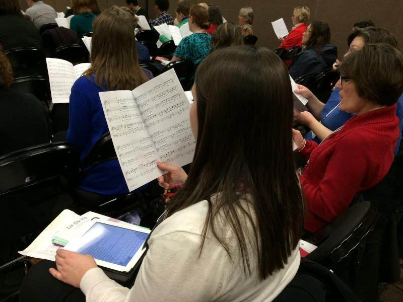 Choral Reading Session with Nick Page, clinician
