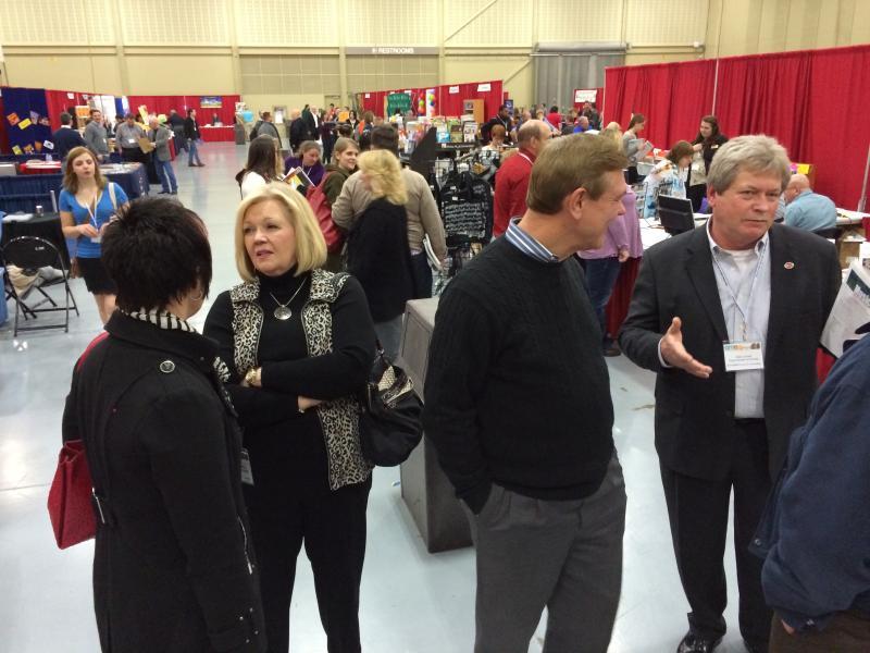 Oklahoma Music Educators Association conference exhibit hall