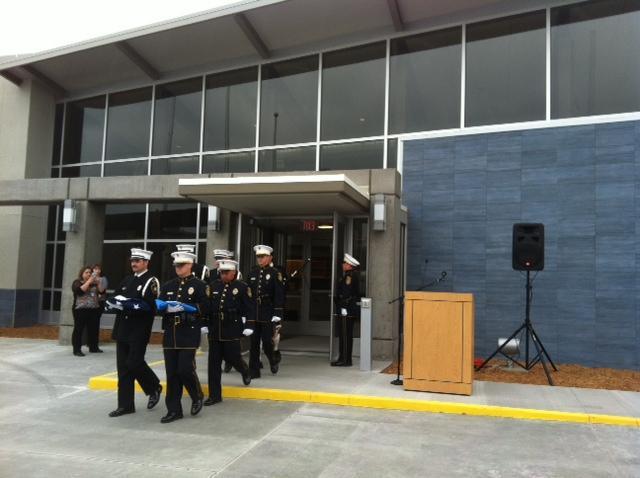 Honor Guard at safety center dedication