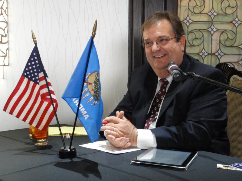 Debate Moderator John Durke, Public Radio Tulsa