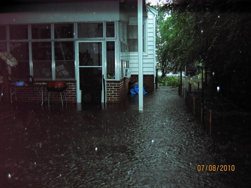 Flooding in the Florence Park South neighborhood occasionally was bad enough that water came inside residents' homes.