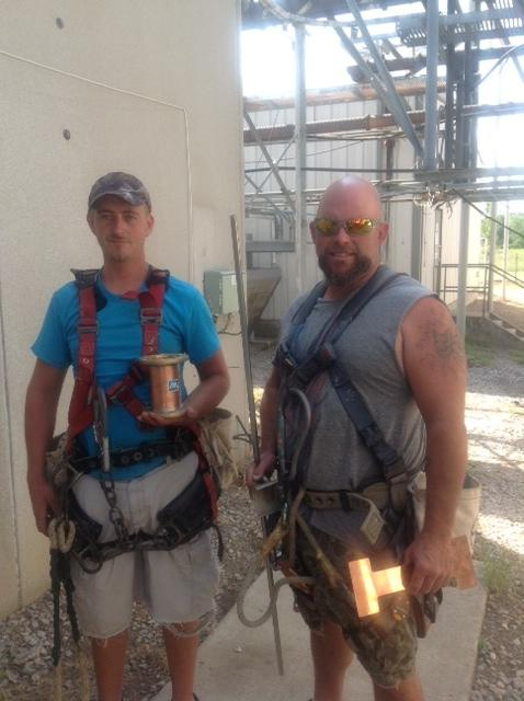 Mike Ellis & Cory Turner, tower crew